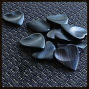 Heart Tones - Ebony - 4 Guitar Picks | Timber Tones